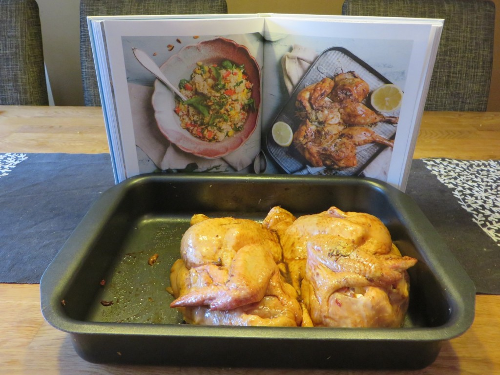 Kyckling i marinad enligt recept från Kristin Kaspersen.