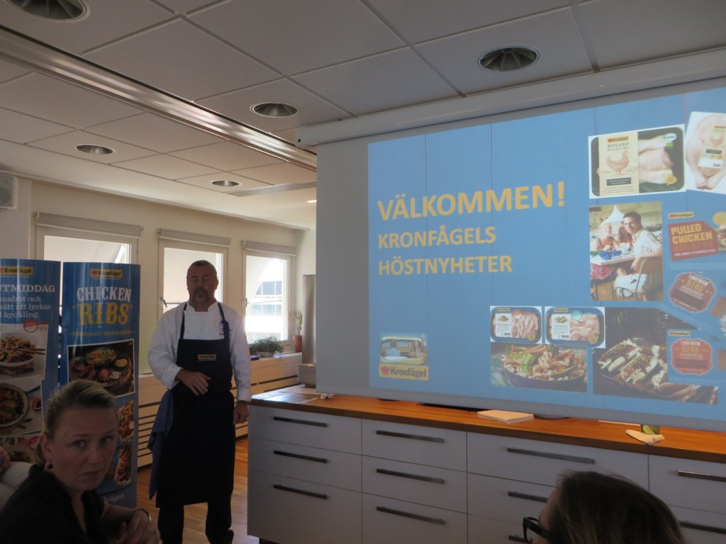 Pressträff för presentation av Kronfågels höstnyheter.