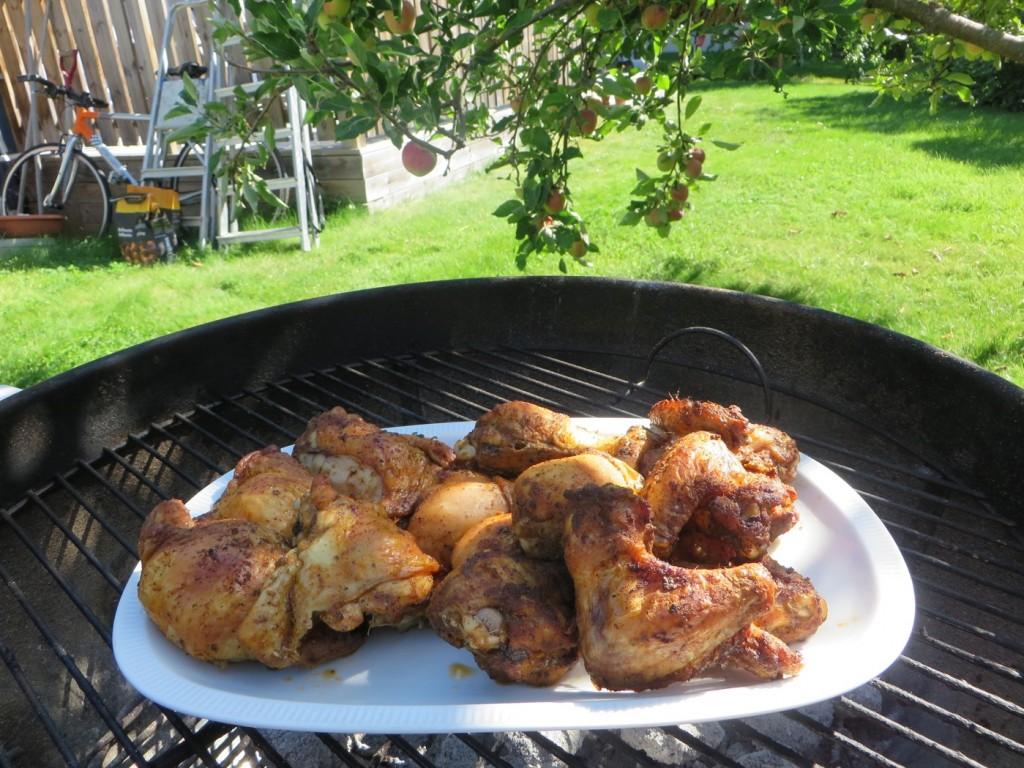 Kyckling på grillen!