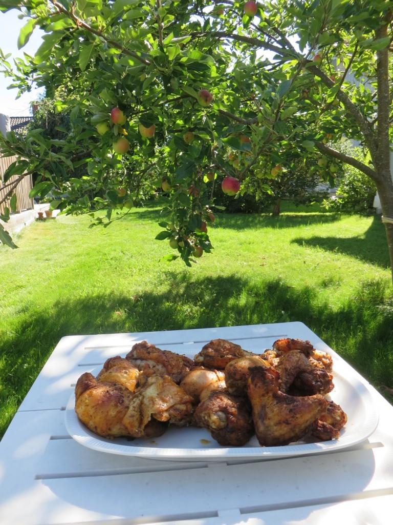Grillad kyckling passar perfekt en varm sommardag.