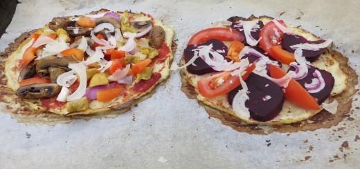 Glutenfri blomkålspizza.