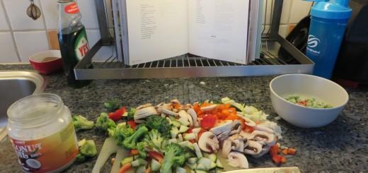 Mycket grönsaker att hacka.