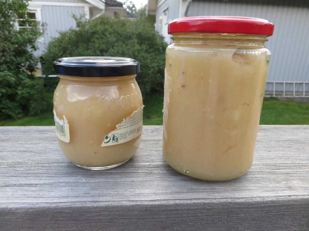 Nyttigt äppelmos utan tillsatt socker.