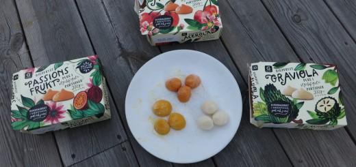 Portionsförpackade fruktpuckar