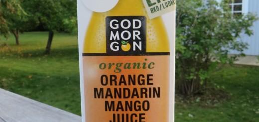 God Morgons nya ekologiska mangojuice