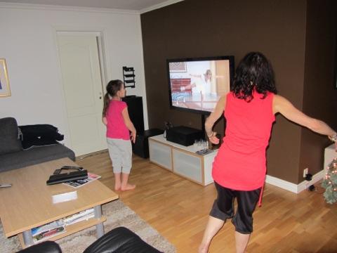 Djup koncentration på Ballet Workout-dvdn