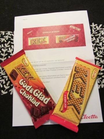 Kexchoklad original och God & Glad Choklad från Cloetta