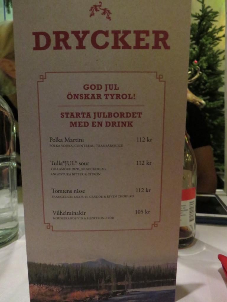Ett fantastiskt utbud av spännande dryck både med och utan alkohol, Upplev Tyrols Vilda julbord