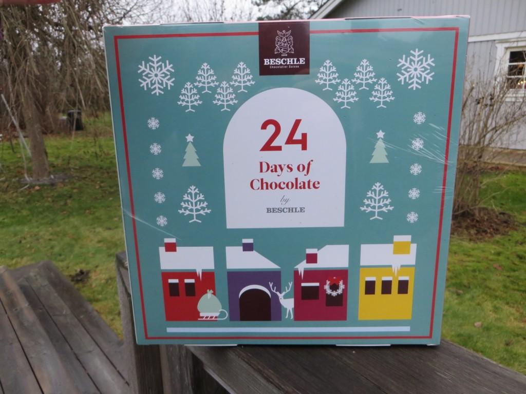 Choklad kalender med Beschle-choklad från Beriksson, Imorgon får vi äntligen öppna första luckan
