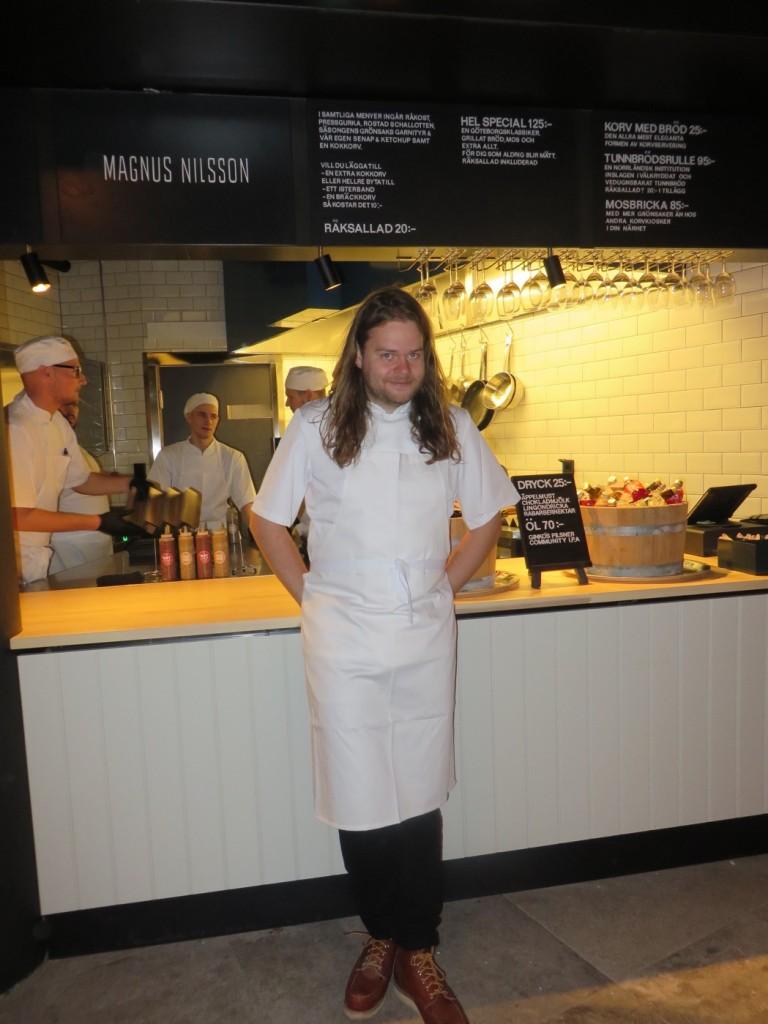 Magnus Nilsson med sin restaurang Korvkiosk