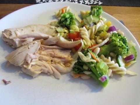 Kyckling och pastasallad