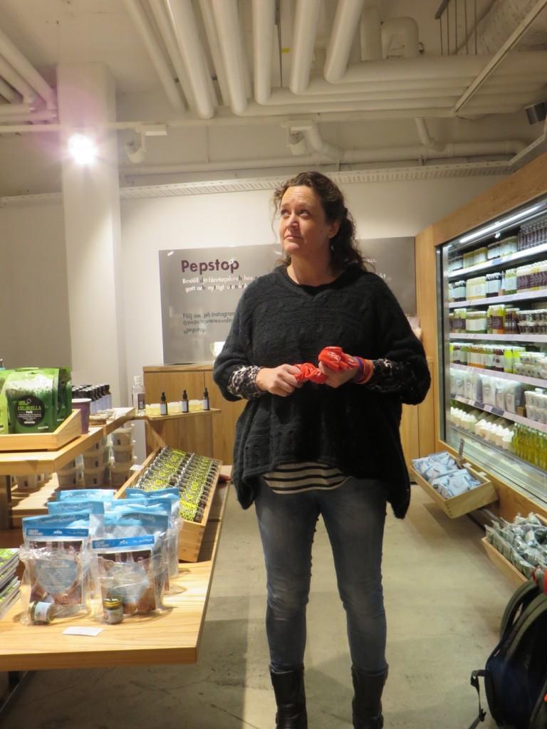 Renée Renée Voltaire i sin nya butik Pepstop