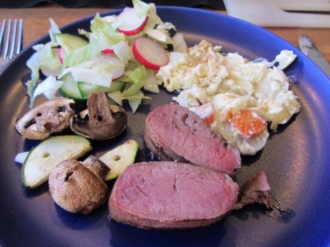 Första portionen av Valborgs-middagen