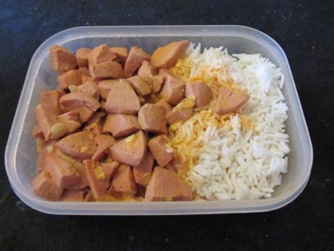Barnens önskemat - korv stroganoff med ris. Tisdagslåda!