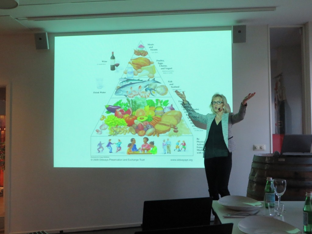 Maj-Lis Hellenius presenterar hur kostpyramiden bör se ut
