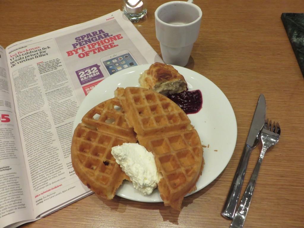 Mitt avslut på frukosten!