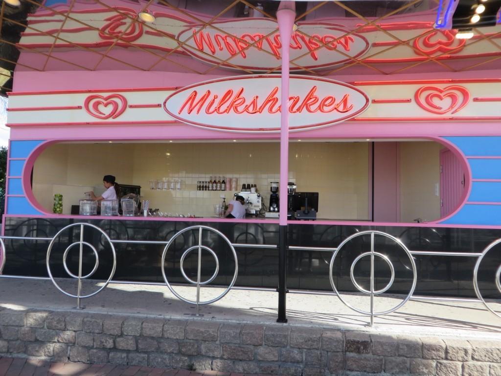 Milkshakebar vid Jet Line.