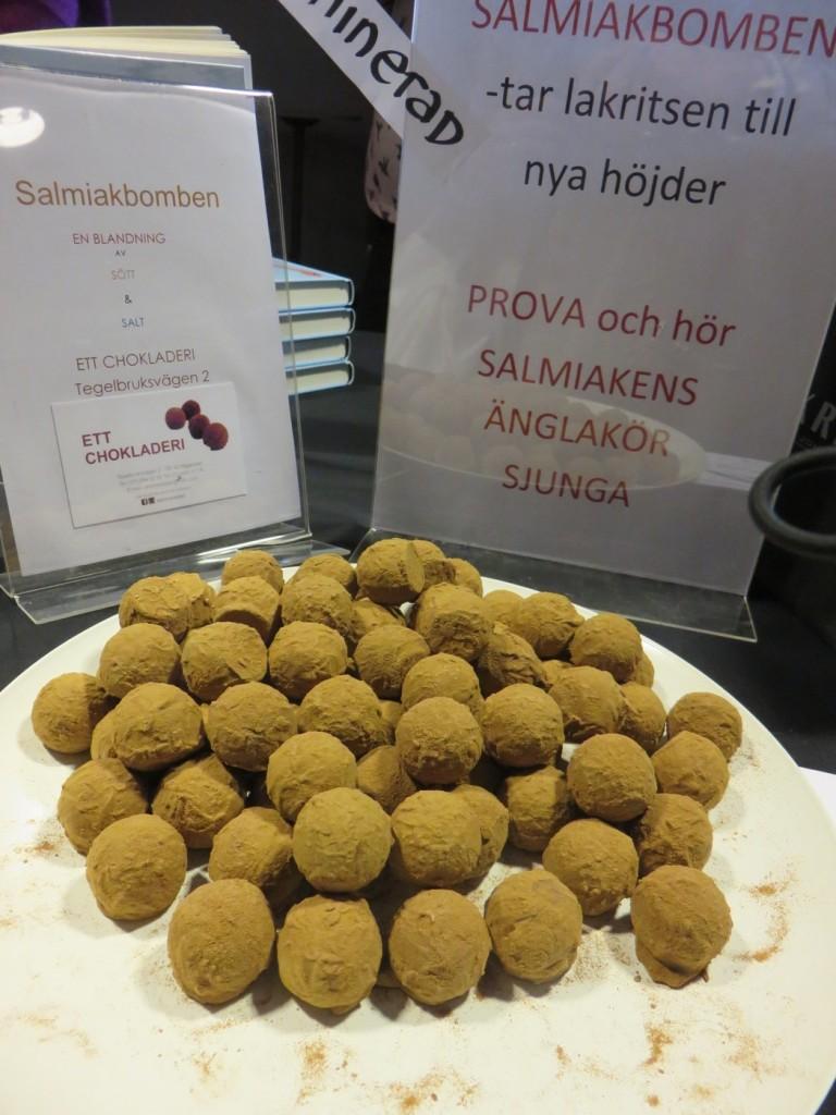 Salmiakbomben från Ett chokladeri.