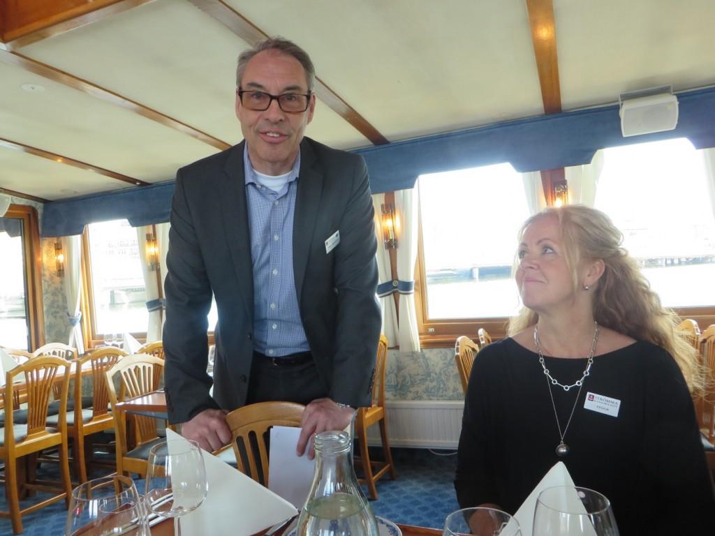 Affärsområdeschef Peter och marknadschef Cecilia från Strömma bjöd in till premiärtur för säsongen.