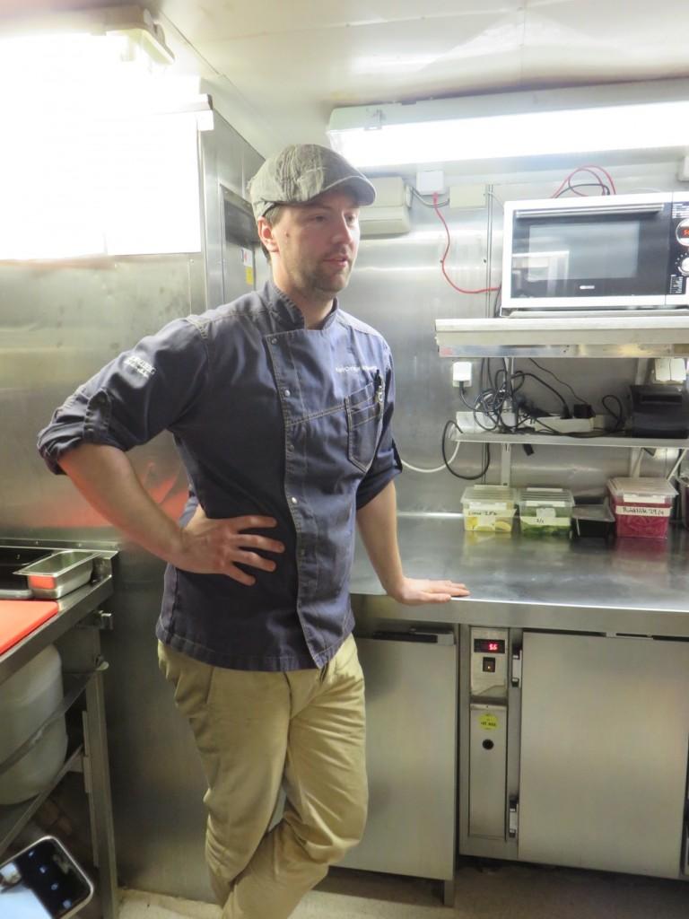 Nere i köket på M/S Prins Carl Philip
