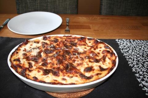 Krämig lasagne gjord på rester