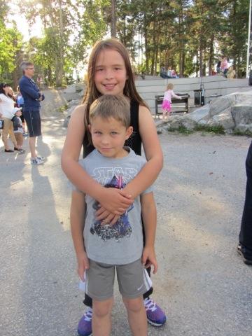 Mina två underbara skolbarn