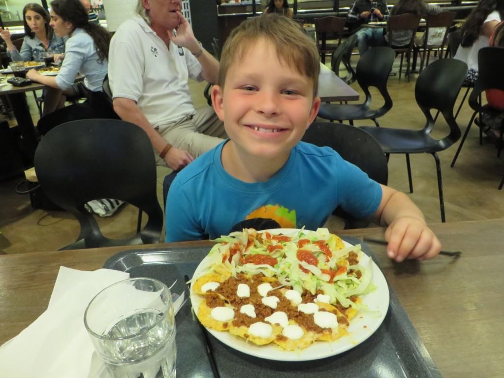 En god nacho du luxe till middag innan bion.