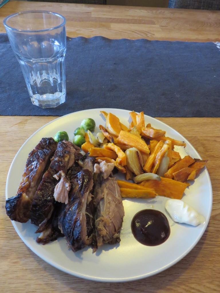 En underbar grillmiddag med fantastiska smaker.