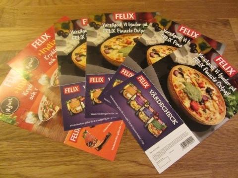 Värdecheckar på FELIX Finaste ostpaj
