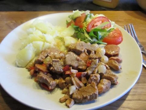 Kreolsk gryta med potatis och grönsaker