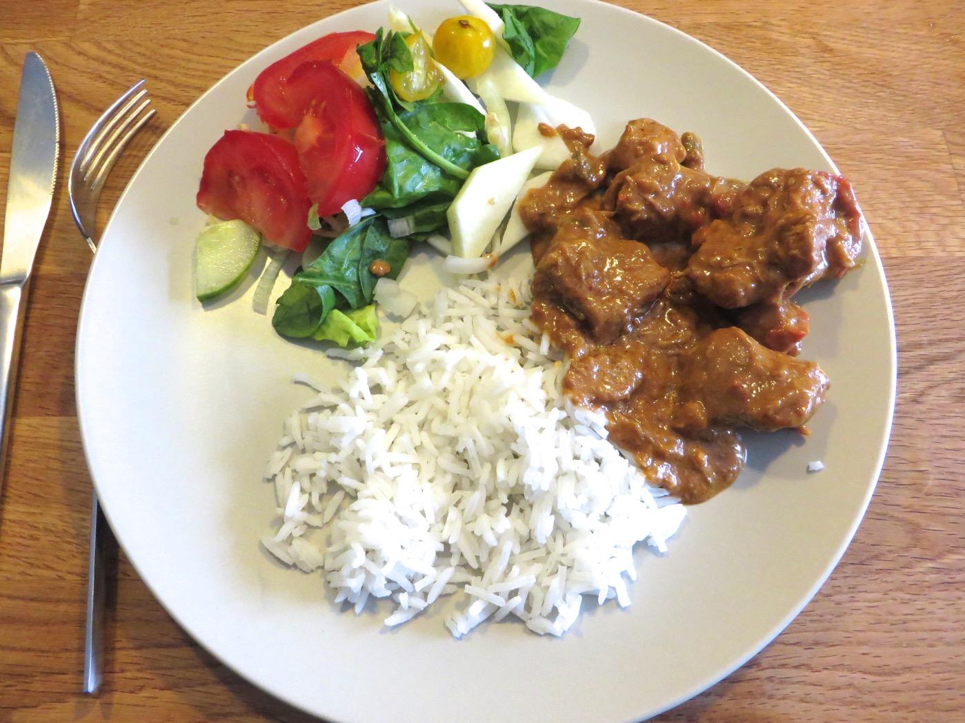 kyckling jordnötssås recept
