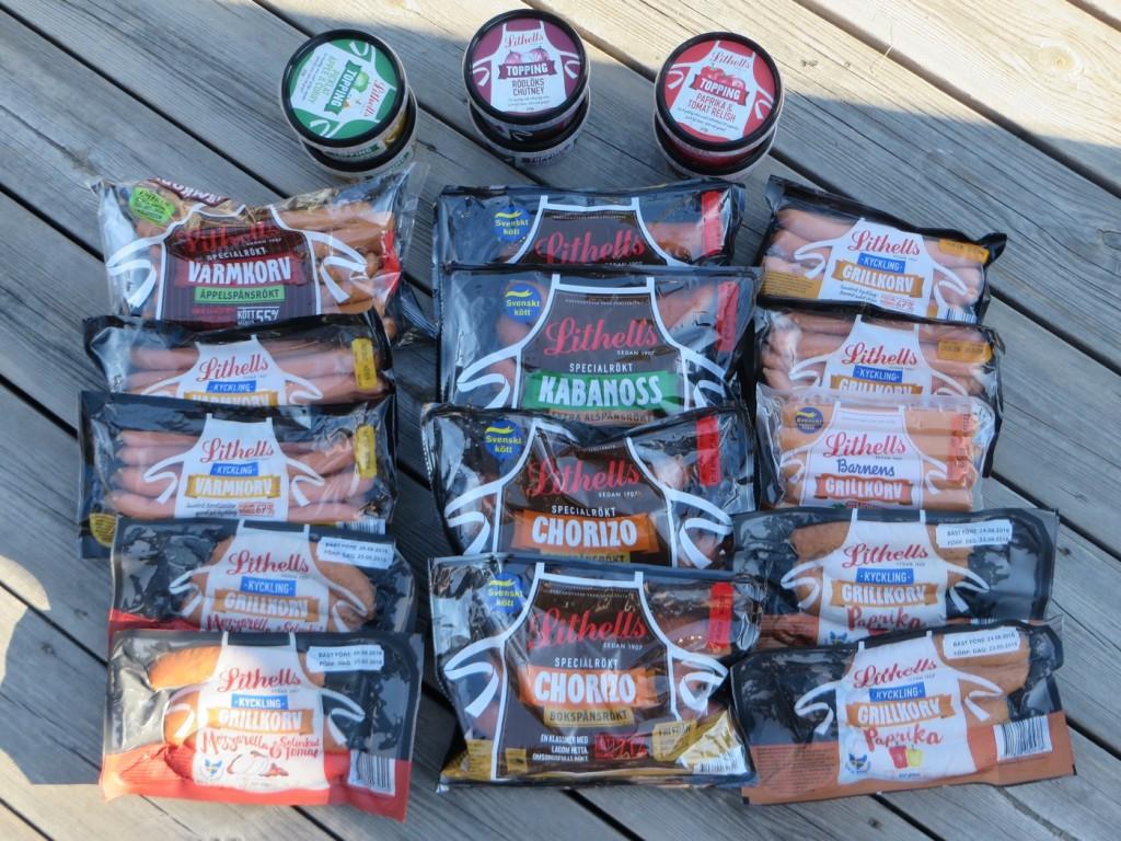 Mycket att välja på inför sommarens alla grillkvällar!