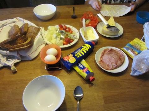 Dags för en god söndagsfrukost i gott sällskap