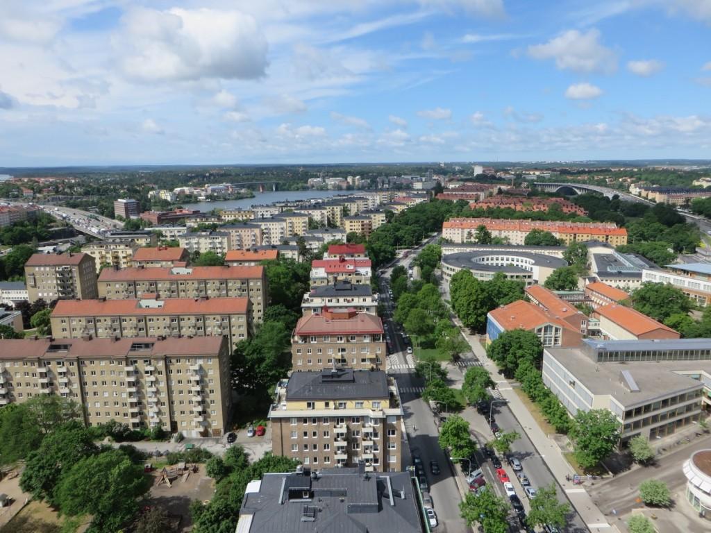 Hänförande utsikt från våning 23 i DN-huset.