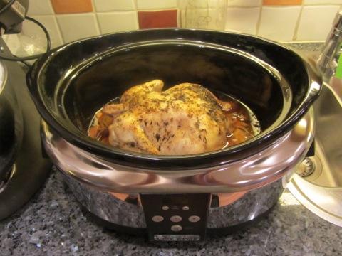 hel kyckling crock pot