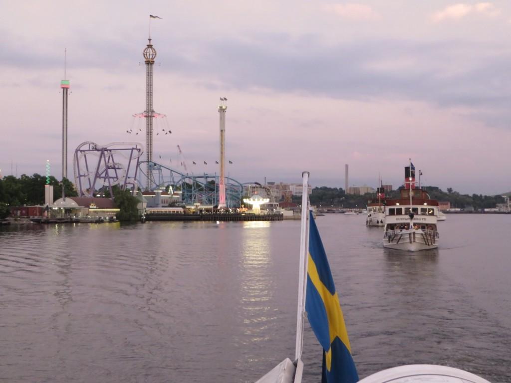 Jag och Mattias valde att njuta av den sköna ljumma kvällen och Stockholms vackra vyer!