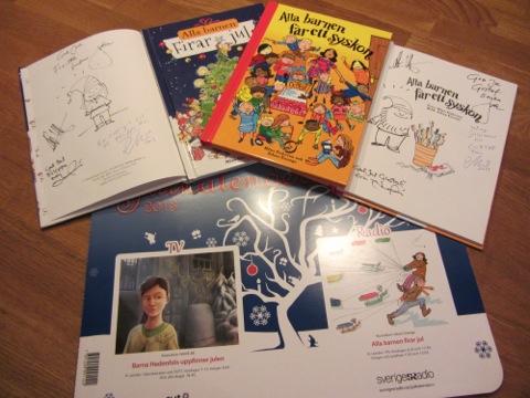 Böcker och julkalendrar