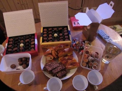 En del av julaftons dessertbord
