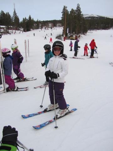 Filippa i skidskola, i år Fräsare