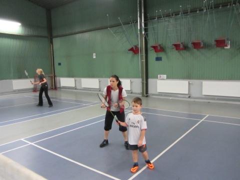 Badminton premiär för barnen