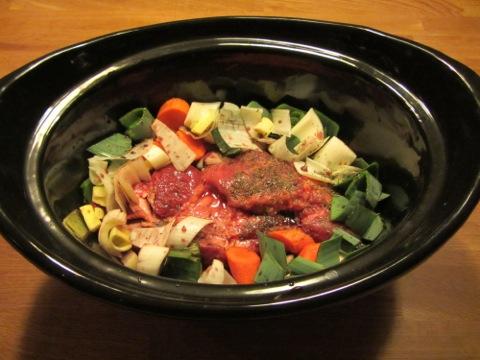 slow cooker recept högrev