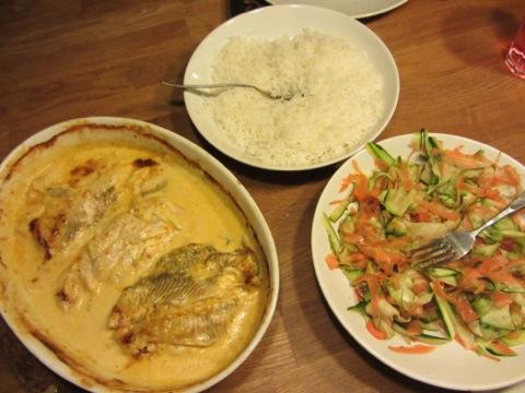 Middagsfrid bjuder på fisk