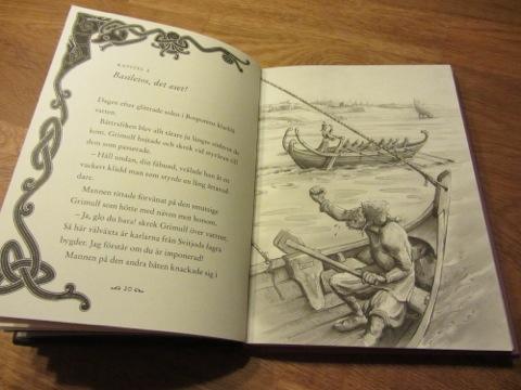 Boken innehåller inte bara en spännande berättelse utan även fina illustrationer
