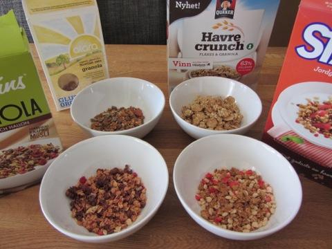 Ett snabbtest av granola