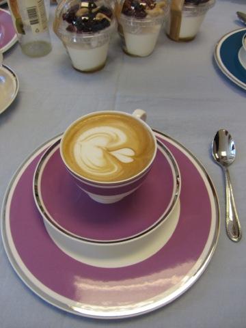 En underbar kaffe latte