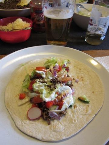 En mjuk taco
