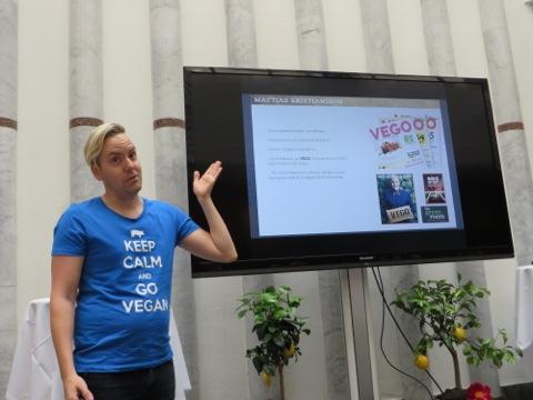 Mattias Kristiansson - mer engagerad, trovärdig och livlig vegan får man leta efter!
