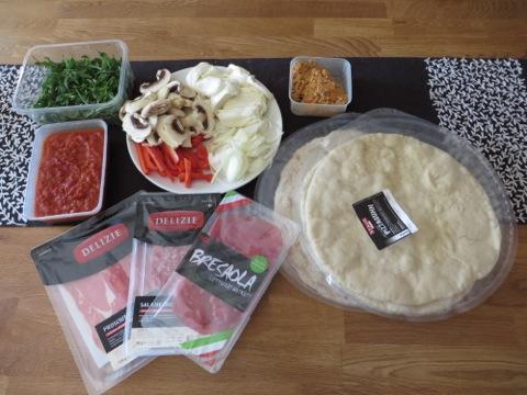 Ingredienser till kvällens middag