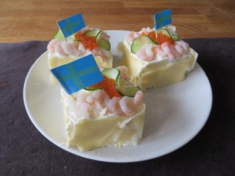 Hemgjord smörgåstårta