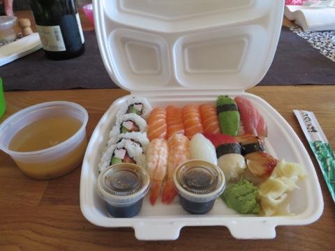 Sushi och miso-soppa
